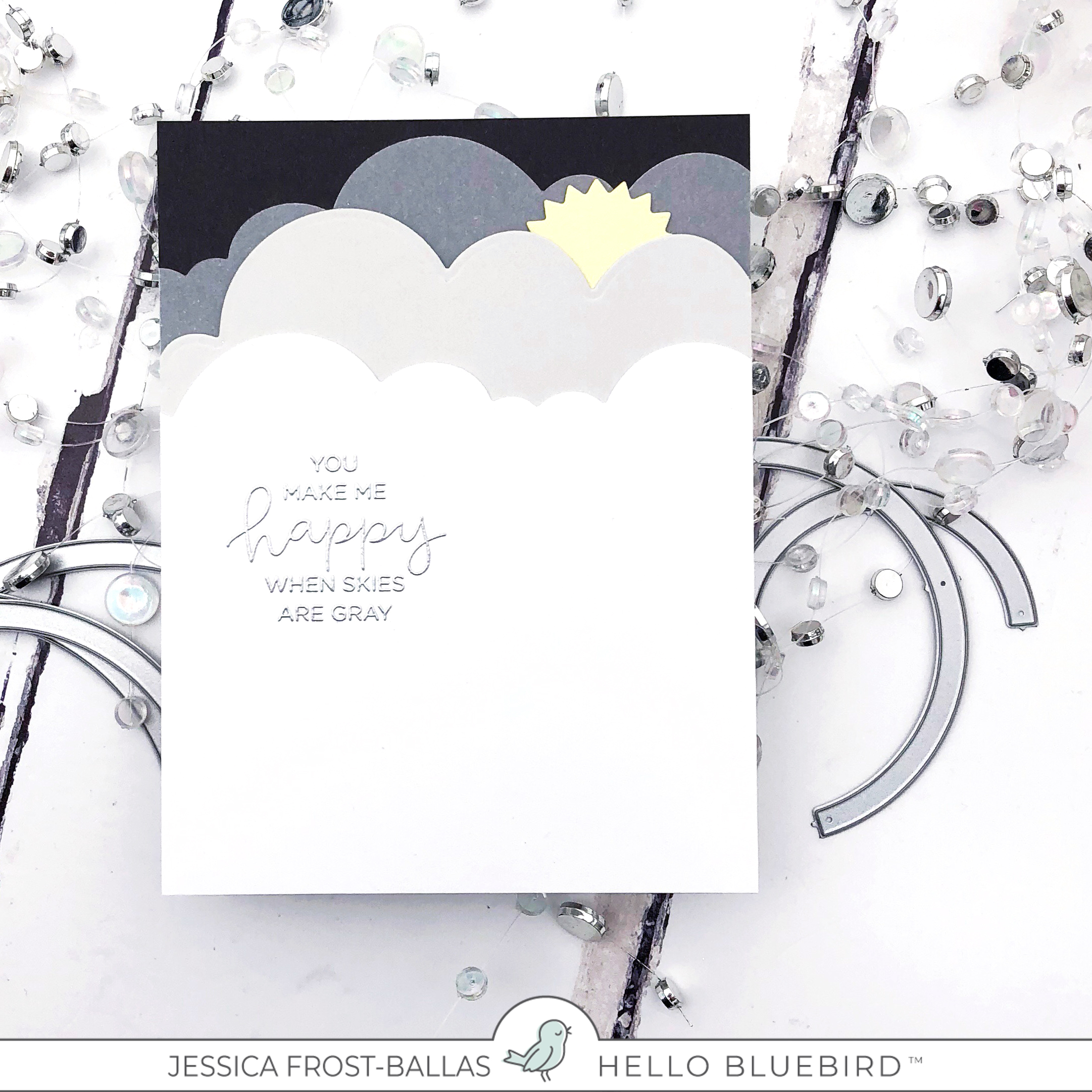 Rainbow Cards by Jessica Frost-Ballas for Hello Bluebird
