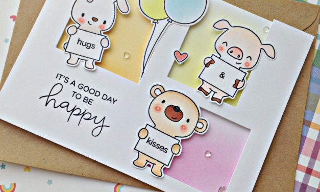 Hugs and kisses card with Franci