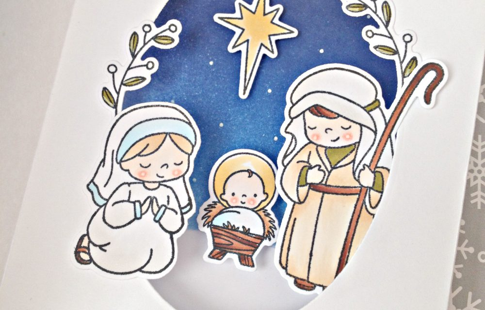"""""""Joy to the world"""" card with Franci"""