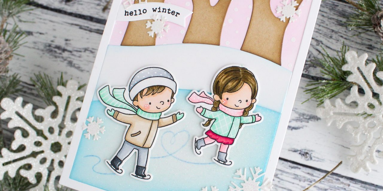 Skating Pond Scene Card with Leanne