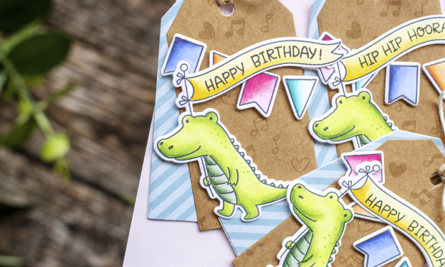 Birthday Tags with Eloise Blue