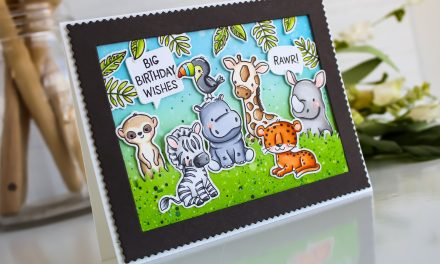 More Jungle Littles Birthday Card with Leanne