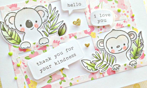 """Hello cuties"" card with Franci"