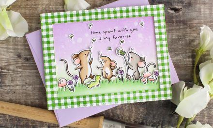 Field Mice Card with Country Gingham Frame by Leanne
