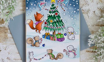 October Day 3 | O Christmas Tree and Snowy Sky Scene and Winter Woods Overlay
