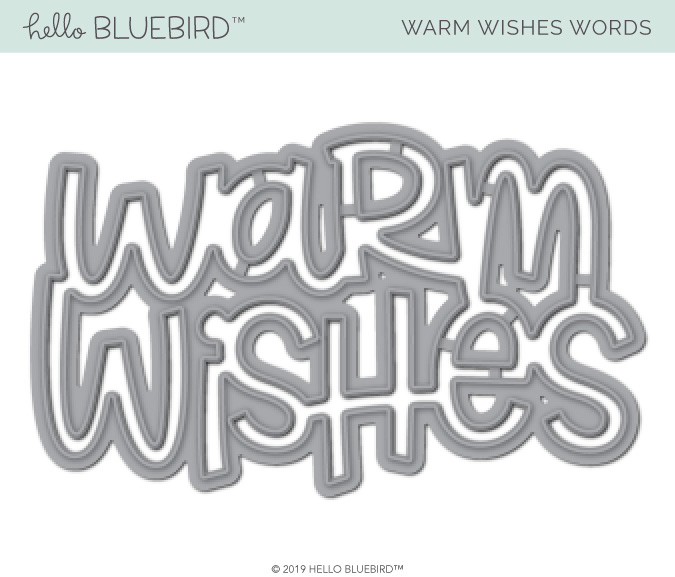 Warm Wishes Word Die