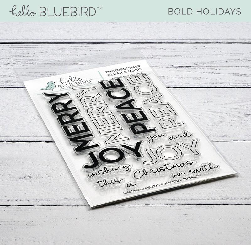 Bold Holidays Stamp