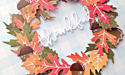 A Fall mini wreath with Franci
