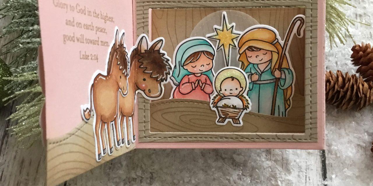 Christmas Shadow Box card with Grace