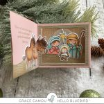 Christmas Shadow Box card with Grace
