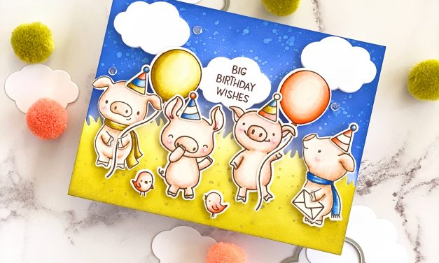 Mixing Up Hello Bluebirds Pig Stamp Sets with Nicky