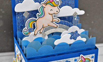 A UNICORN BIRTHDAY POP-UP CARD WITH MARINE