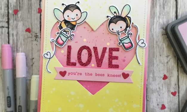 Bee Happy Love card with Grace