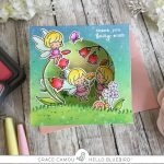 Fairy Garden Pop up card with Grace