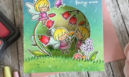Fairy Garden Pop up card with Grace