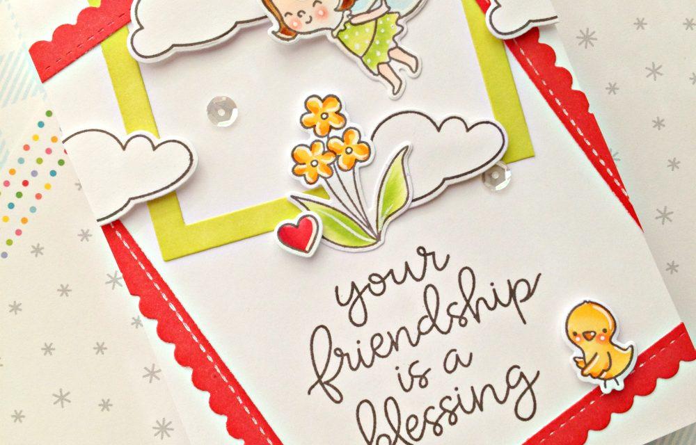 A cute friendship card with Franci