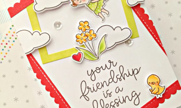A cute friendship card with Franci