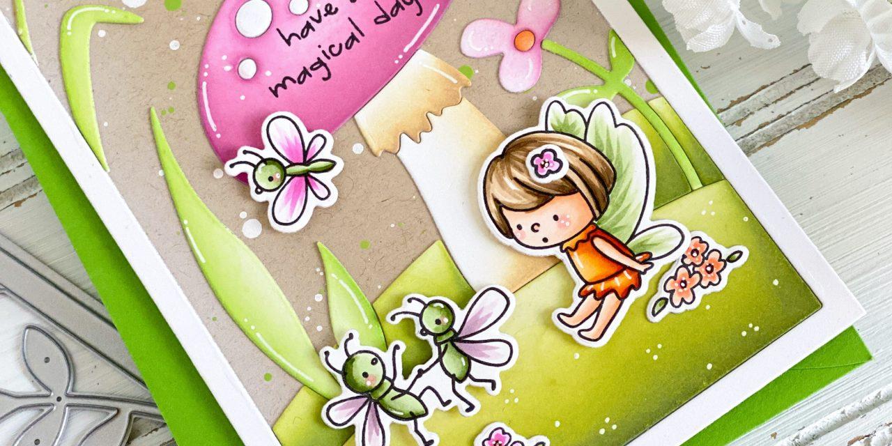 Fairy Glade Slimline Scene Card By Leanne