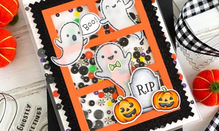 Ghostly Greetings Halloween Shaker Card