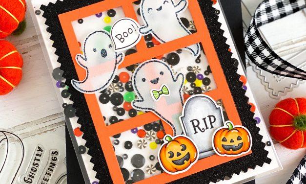 Ghostly Greetings Halloween Shaker Card