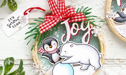 Polar Friends Hoop Ornaments with Leanne