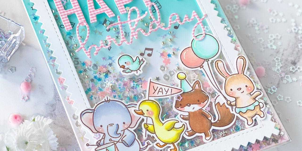 Party Parade Infinity Shaker Card with Nicky