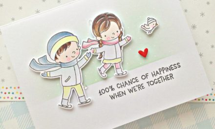 A sweet love themed card with Franci