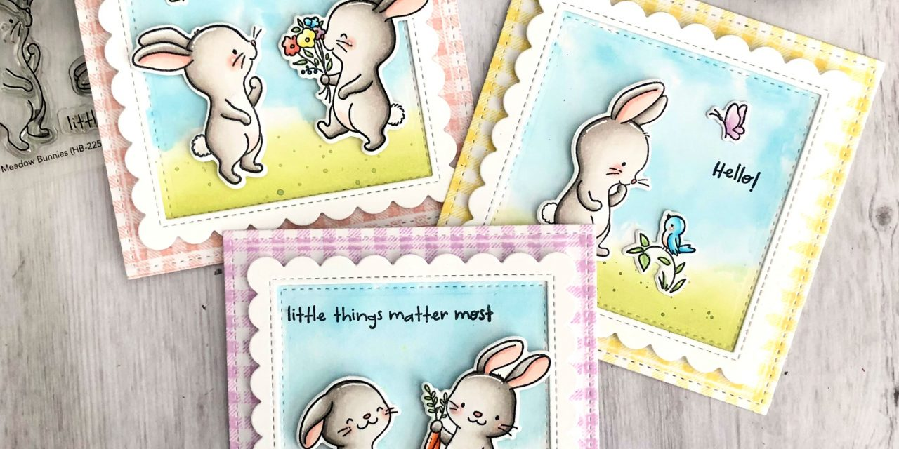 Country Gingham Background Stamp with Tammy