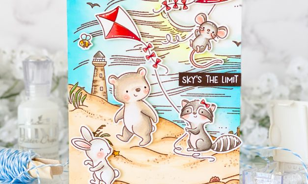 By The Sea Background Stamp with Nicky