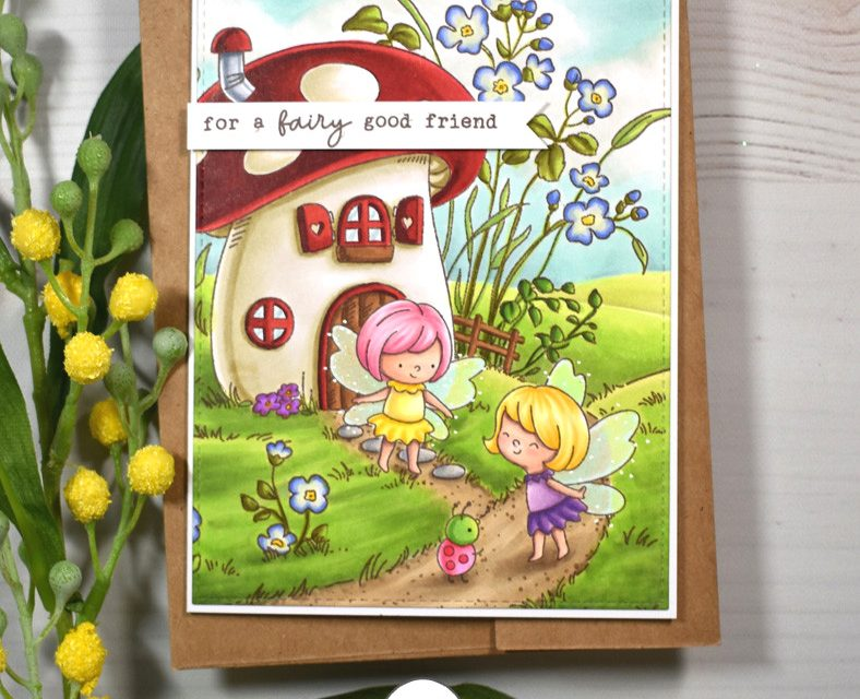 Mushroom House Background with Amy