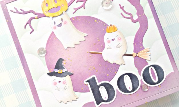 """Boo"" card with Franci"